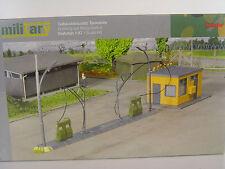 Kasernen Tankstelle für Militär  - Herpa HO 1:87 Bausatz - 745864  #E
