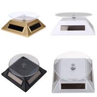 Solar 360° Drehteller Präsentierteller Drehbühne Schmuck Uhren Stand Neuware SL#