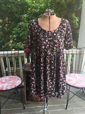 Vintage Sostanza Floral Babydoll 90's Bohemian Hippie Tunic Mini Dress M