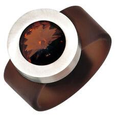 Modeschmuck-Ringe aus Edelstahl mit Strass 52 (16,5 mm Ø)