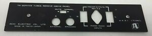 Akai 1710w Reel to Reel Rear Cover Plate with Hardware - Aluminum