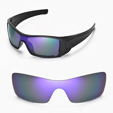 New Walleva Polarized Purple Replacement Lenses For Oakley Batwolf Sunglasses