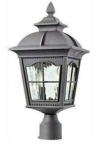 Home Decorators Collection Loridan 2 light Outdoor Post Lantern Black