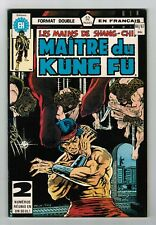 FRENCH COMIC FRANÇAIS EDITION HERITAGE CANADA  MASTER MAITRE KUNG FU  # 66 / 67