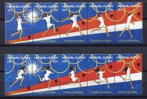 S1919a) Marshall Isl. 1988 MNH Olympic Games 2x5v