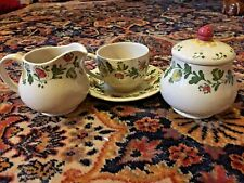 Staffordshire Old Granite Johnson Bros GRETCHEN Pattern Cream Sugar Cup Saucer