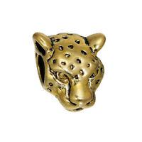 10Stücke Zinklegierung 3D Perlen Beads Leopard Perlen Golden G/S