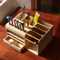Multi-functional Wooden Desk Storage Box Cell Phone Repair Accessories Box Tool