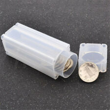 Clear Coins Square Portable Storage Tubes Coin Holder Propene Polymer Coin Safe