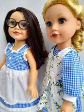 """Gingham Paper Dolls - """"Carrie"""" - Blue Gingham for Journey Girl Dolls"""