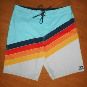 Billabong Platinum X North Point Men's Multicolor Stretch Board Shorts Size 32