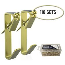 Picture Hangers WillRoad 30lb (110 Pieces) with Nails,