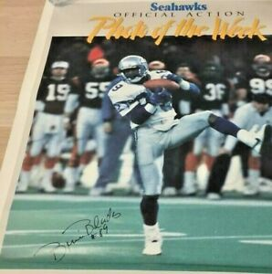 Vintage Seattle Seahawks Blades Action Photo of The Week Dec 311988 Poster 20x14