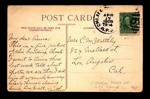 1908 Chi ILL & .. Street Car RPO Duplex Cancel Card - L16519