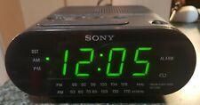 Sony ICF-C218 Dream Machine Clock Radio - Large GREEN display, AM/FM, Works!