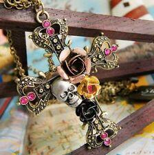 Rhinestone Charm Beauty Costume Necklaces & Pendants