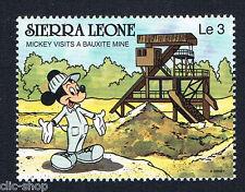 WALT DISNEY UN FRANCOBOLLO SIERRA LEONE MICKEY MOUSE VISITS A BAUXITE MINE nuovo