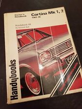 Ford Cortina MK1, 2 owners hand book, 1962/1970 well used