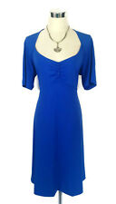 "LEONA EDMISTON ""Alicia"" Dress - Blue Vintage Style Button Stretch - 3/14 - BNWT!"