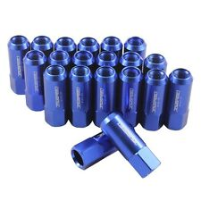 JDMSPEED 20PC 14X1.5MM 60MM EXTENDED FORGED ALUMINUM TUNER RACING LUG NUT BLUE