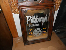 Pittsburgh Steelers Super Bowl IX,X,XIII,XIV,XL,XLIII Wooden Framed Mirror NICE