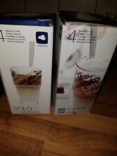 4 neue Latte Macchiato Gläser mit langen Löffeln in OVP,  ungenutzt