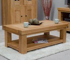 Houston solid oak living room lounge furniture coffee table with magazine shelf