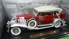 CADILLAC SPORT PHAETON 1932 rouge cabriolet 1/18 d ANSON 30383 voiture miniature