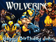 """EDIBLE WAFER SHEET  CAKE IMAGE  WOLVERINE  BIRTHDAY & MORE PARTY TOPPER   8""""X11"""""""
