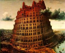 Dream-art Oil painting The Little Tower of Babel - Great building old castle art