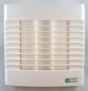 """Bathroom Extractor Fan 4"""" 100mm - Timer & Automatic Shutters - Timed Overrun"""