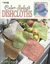 Color-Splash Dishcloths Knitting Knit Patterns Evelyn A Clark LA 3394 NEW