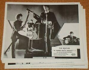 BEATLES: HARD DAY'S NIGHT (1964) - VERY RARE original UK 8x10 FOH lobby card SET