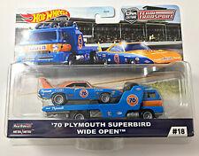 NEW Hot Wheels Car Culture Team Transport G Case 70 Plymouth Superbird Wide Open