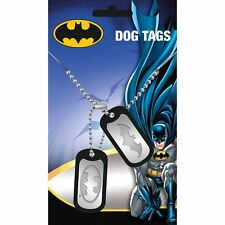 Officially Licensed DC Comics Batman Logo Dog Tag Pendant Necklace