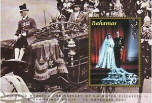 Bahamas Stamp - Queen Elizabeth, Diamond Wedding Anniversary Stamp - NH
