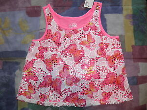 JUSTICE Pink Butterfly Lace Crop Top Size 10~ NEW!
