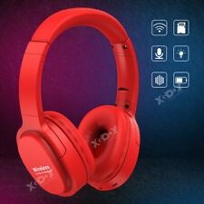 Over Ear Bluetooth 5.0 Wireless Stereo Headphones HiFi Noise Cancelling Headsets