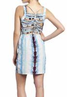 Charlie Jade 100% Silk Braided Back Dress NWT