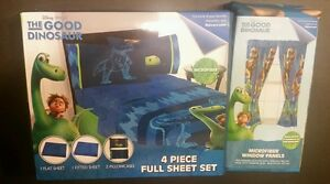 The Good Dinosaur Disney 4 Piece Full Sheet Set and Microfiber Window Panels