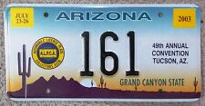 Arizona 2003 ALPCA 49th ANNUAL CONVENTION SOUVENIR License Plate SUPERB # 161