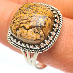 Picture Jasper 925 Sterling Silver Ring Size 11.5 Ana Co Jewelry R63269F