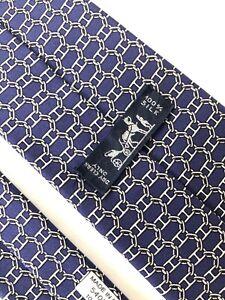 Hermes Paris Tie Monogram 5405 OA Silk 100%  Authentic 100% Made In France.
