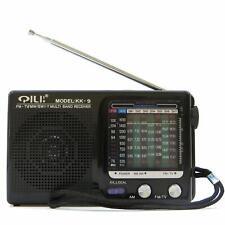 Radio radiolina FM AM portatile 7 bande frequenza QILITE KK-9 audio TV NERA