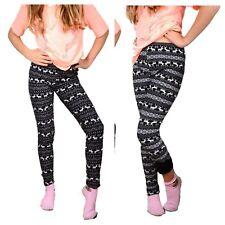 Thermo Leggings Damen ,Treggings,Hose,Leggings,Shabby,Norweger Muster S-M  36-38