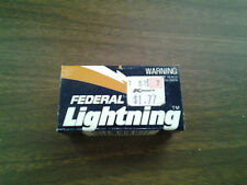 VINTAGE FEDERAL LIGHTNING EMPTY .22 LR  AMMO BOX
