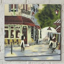 "Bistro Waiters Ceramic Picture Tile Cafe France Paris Brent Heighton 8x8"" 05062"