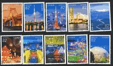 Japan 2016 Yen 82 Japan at Night Series 2, (Sc # 4046a-j), Stamped