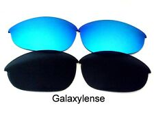 Galaxyy Replacement Lenses For Oakley Half Jacket Black&Blue Polarized 2 PAIRS
