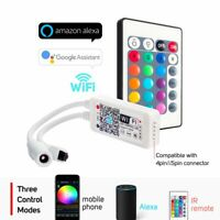WiFi 5050RGB RGBW LED Strip Light Controller Voice IOS/Android Bluetooth Control